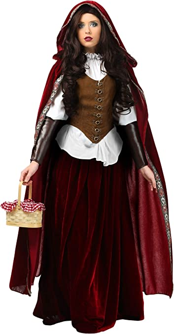 Plus size adult Red Riding hood gothic costume set
