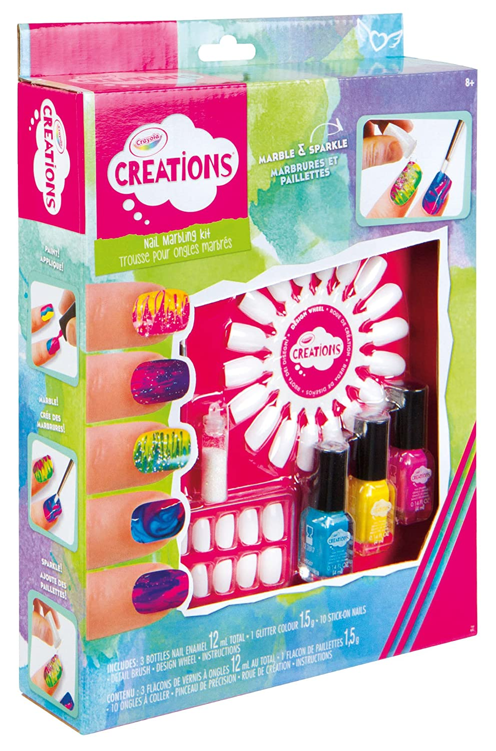 Vivid Imaginations Nail Marbling Kit (Multi-Colour): Amazon.co.uk ...
