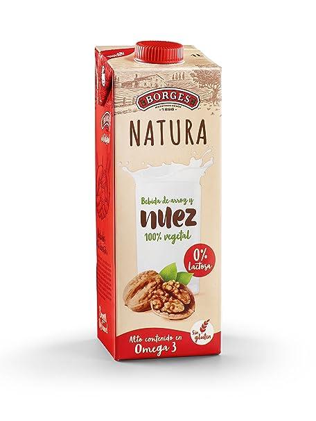 Borges Natura - Bebida de Nuez y Arroz 100% Vegetal, Sin Lactosa Ni Gluten