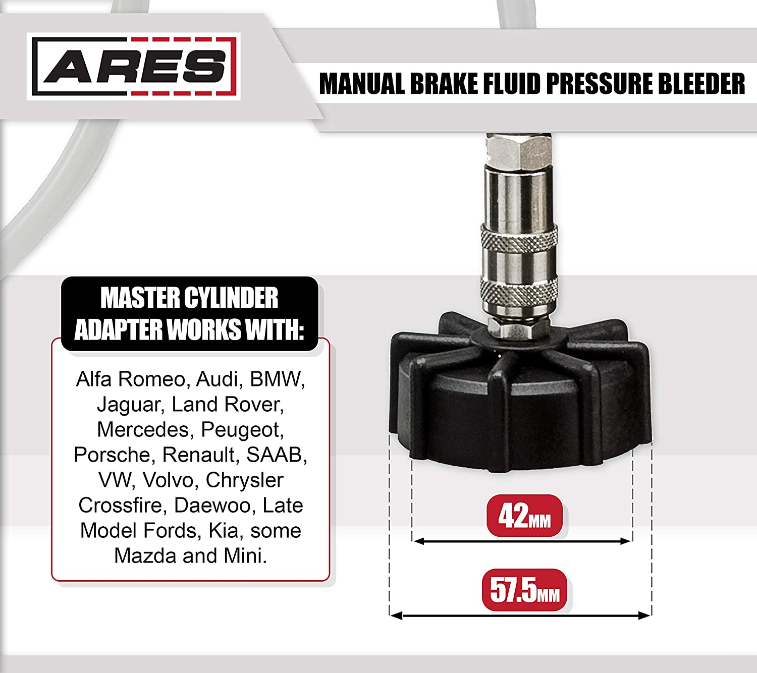 Amazon.com: ARES 70921 | 2L Manual Brake Fluid Pressure Bleeder | Makes  Brake Fluid Changes Quick and Easy | Easy One Person Manual Pump Operation:  ...