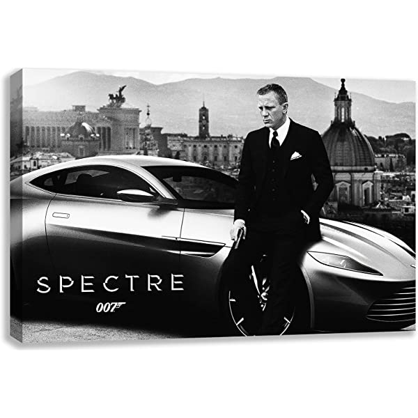 PREMIUM LARGE GICLEE CANVAS ART JAMES BOND SKYFALL 007