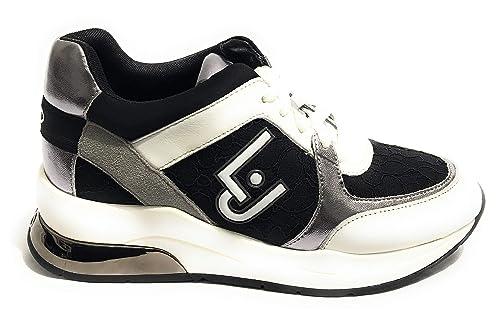 Liu Jo Jeans - Zapatillas para Mujer Nero/Bianco: Amazon.es: Zapatos y complementos