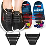 Amazon Price History for:No Tie Shoelaces for Kids & Adults. THE Elastic Silicone Shoe Laces to Replace your Shoe Strings. 16 Slip On Tieless Flat Silicon Sneakers Laces