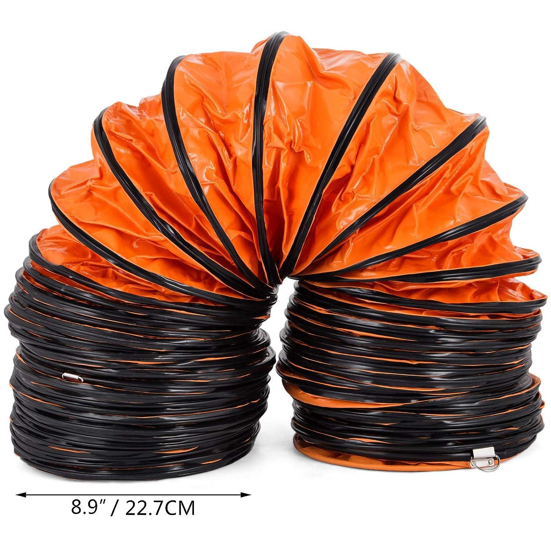 Vevor 5m Tuyau dEvacuation Flexible en PVC de Diam/ètre 8 Pouces Tube de Ventilation Pipe dA/ération pour Extracteur dAir Climatisation