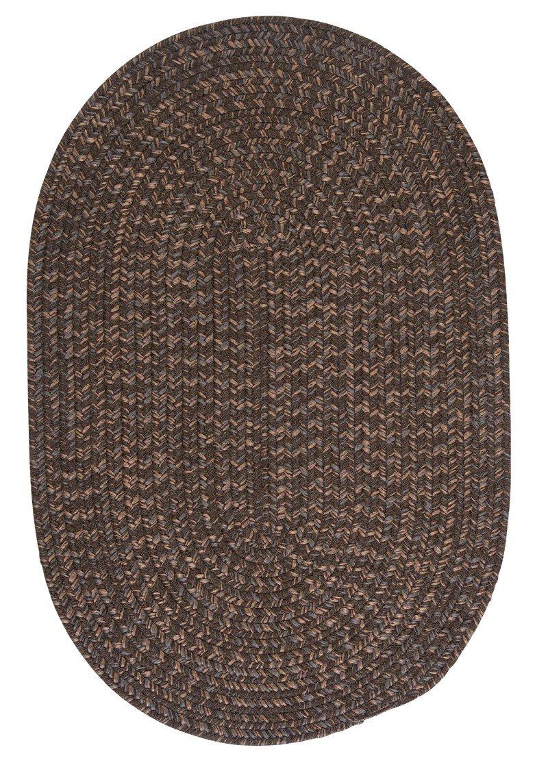 Colonial Mills HY19R024X072 Hayward Braided Tweed Rug Black