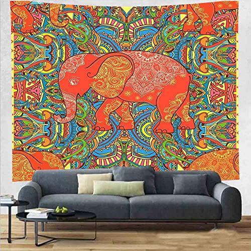 DBLLF Indian Elephant Tapestry Forest Bohemian Tapestry Wall Tapestry Wall Hanging Decor Tapiz Pared Mandala Beach Towel 84 90Inches DBGE006