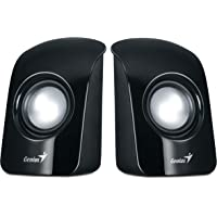 Genius SP-U115 Stereo USB Powered 2.0 Speakers with 1.5W Output and 3.5mm Audio Plug (Black)