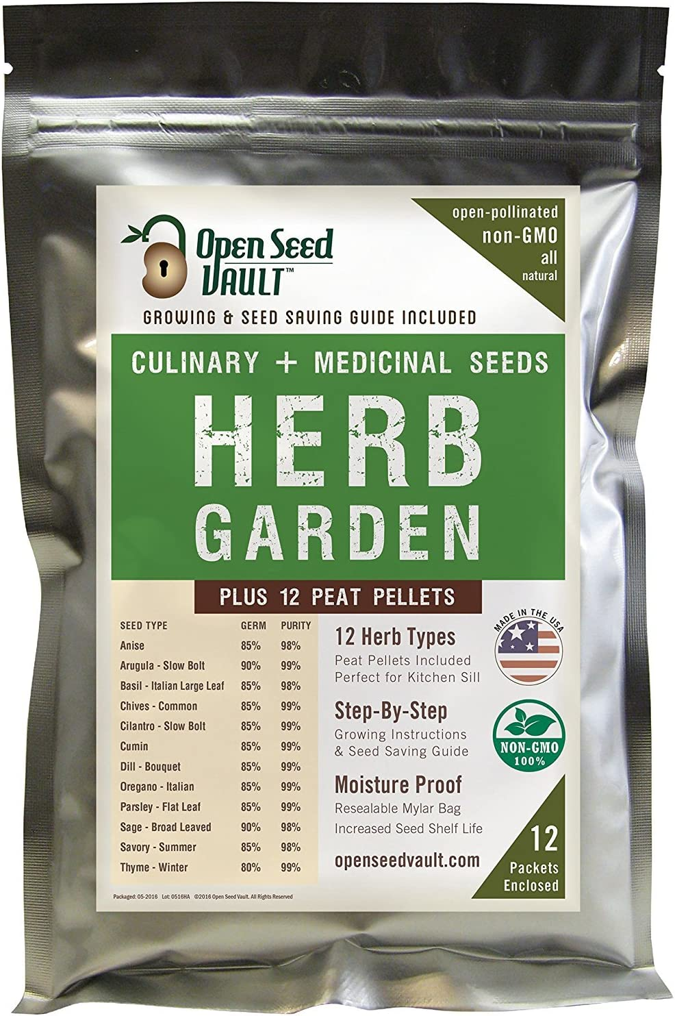 12-Popular-Easy-to-Grow-Herb-Seeds-by-Open-Seed-Vault-Includes-12-Seed-Starting-peat-pellets