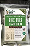 100% Non-GMO Heirloom Culinary and Medicial Herb Kit - 12 Popular Easy-to-Grow Herb Seeds by Open Seed Vault - Includes…