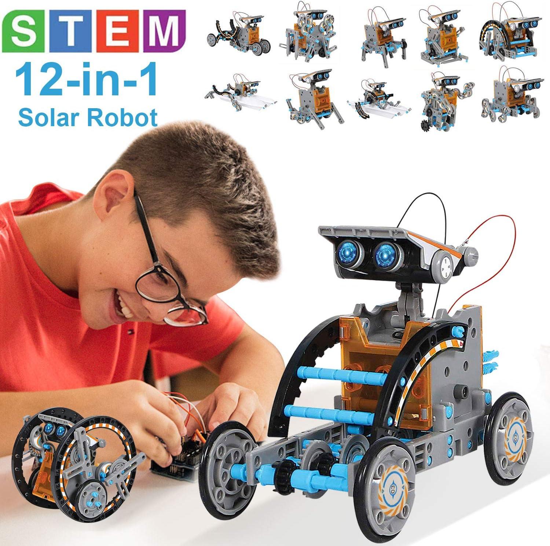 Juguetes STEM Kit de Tobot Solar Kits de Ciencia Educativa 12 en 1 Aprendizaje de Ciencia Juguetes de Construcción Alimentado por Solar Juguetes Ciencia para Niños Regalo para Niños de 8 9 10-12 Años