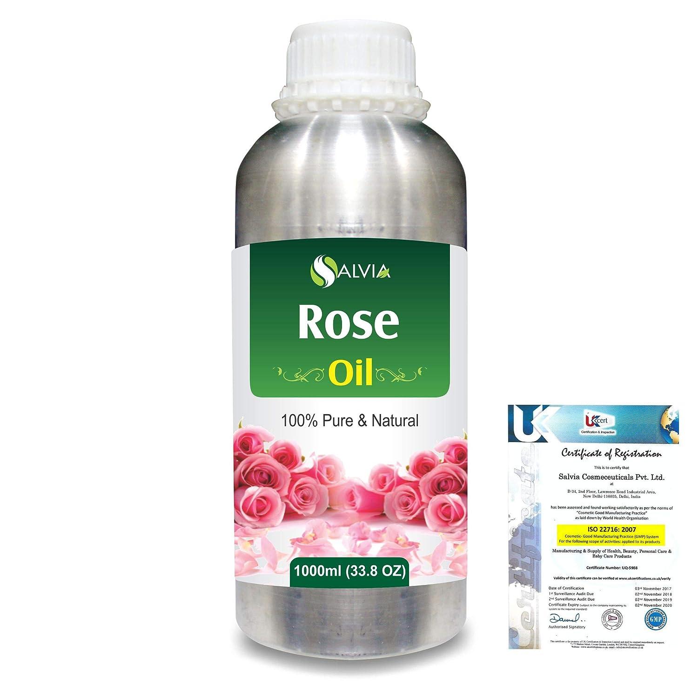 Rose (Rosa Damacenia) 100% Natural Pure Essential Oil 1000ml/33.8fl.oz. B07R2B58F8