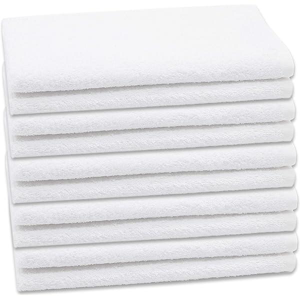 ZOLLNER 10 Toallas de tocador Blancas, 40x60 cm, algodón 100%, en ...