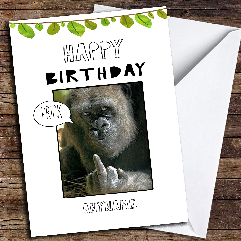 Monkey Card Blank Inside Birthday Card Zoo Animal Birthday Card Happy Birthday Card Greeting Card Fun Birthday Card