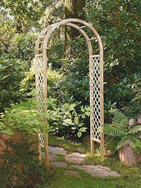 Liveoutside Rose Wooden Garden Arch With Side Trellis Amazoncouk