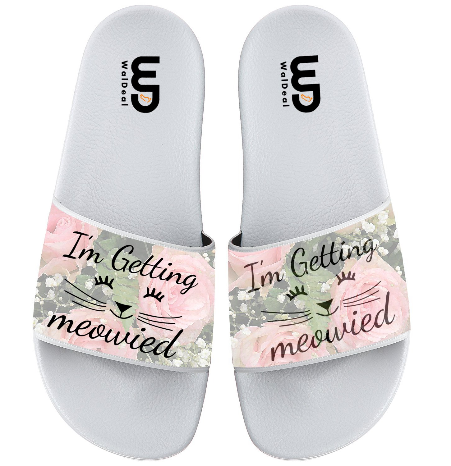 I'm Getting Meowied Cat Summer Slide Slippers For Men Women Outdoor Wedding Non-slip Casual Sandal Shoes