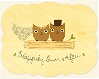 product image for Night Owl Paper Goods Mr. & Mrs. Hoot Wood Card