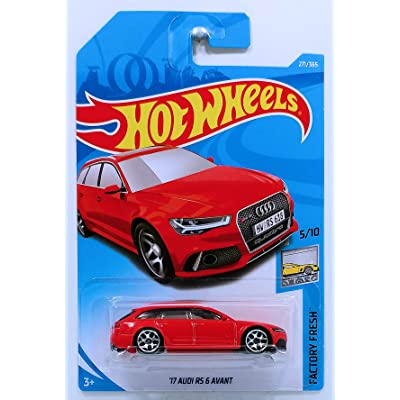 Hot Wheels 2020 50th Anniversary Factory Fresh '17 Audi RS 6 Avant 271/365, Red: Toys & Games
