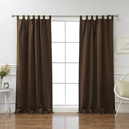 Editors' Choice: Best Home Fashion Closeout Tab Top Thermal Insulated Blackout Curtain Tabtop Chocolate 52″ W x 96″ L Tieback Included Set of 2 Panels