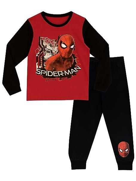 El Hombre Araña - Pijama para Niños - Spiderman - 12 - 13 Años