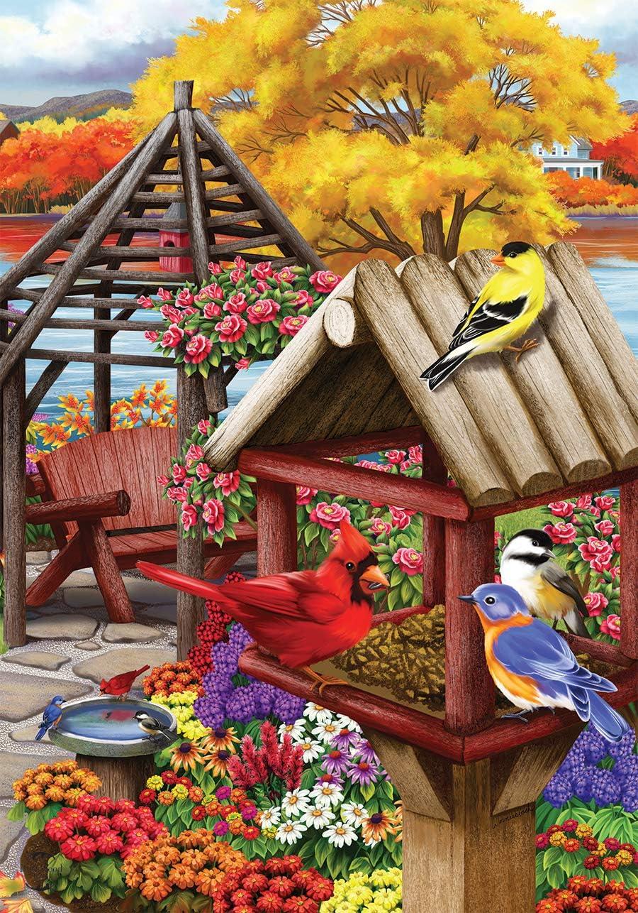 Briarwood Lane Autumn Garden Birds House Flag Birdhouse Floral 28