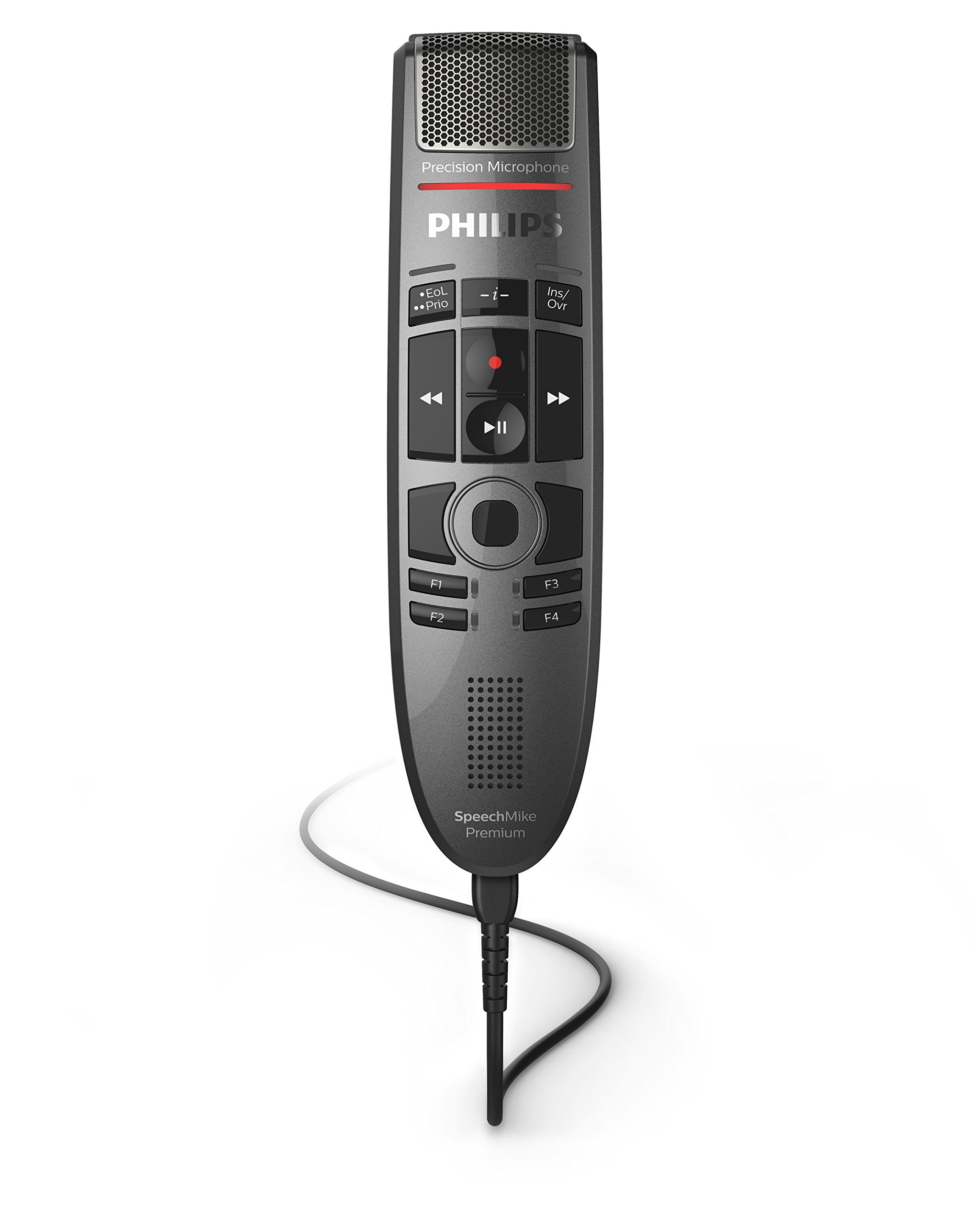 Philips SMP3700 SpeechMike Premium Touch Precision USB Microphone - Push Button Operation
