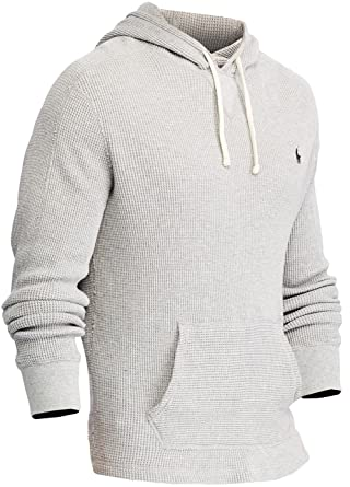 Polo Ralph Lauren Men's Waffle-Knit Hoodie, S, Andover Heather