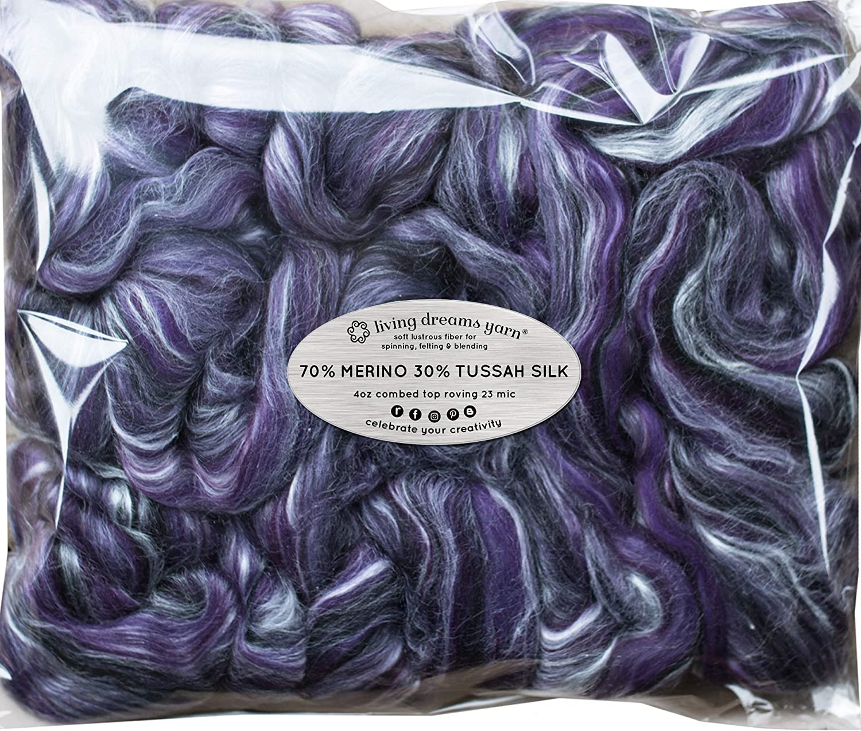 Seda Merino Cable de para Spinning Top peinado. Super suave lana ...