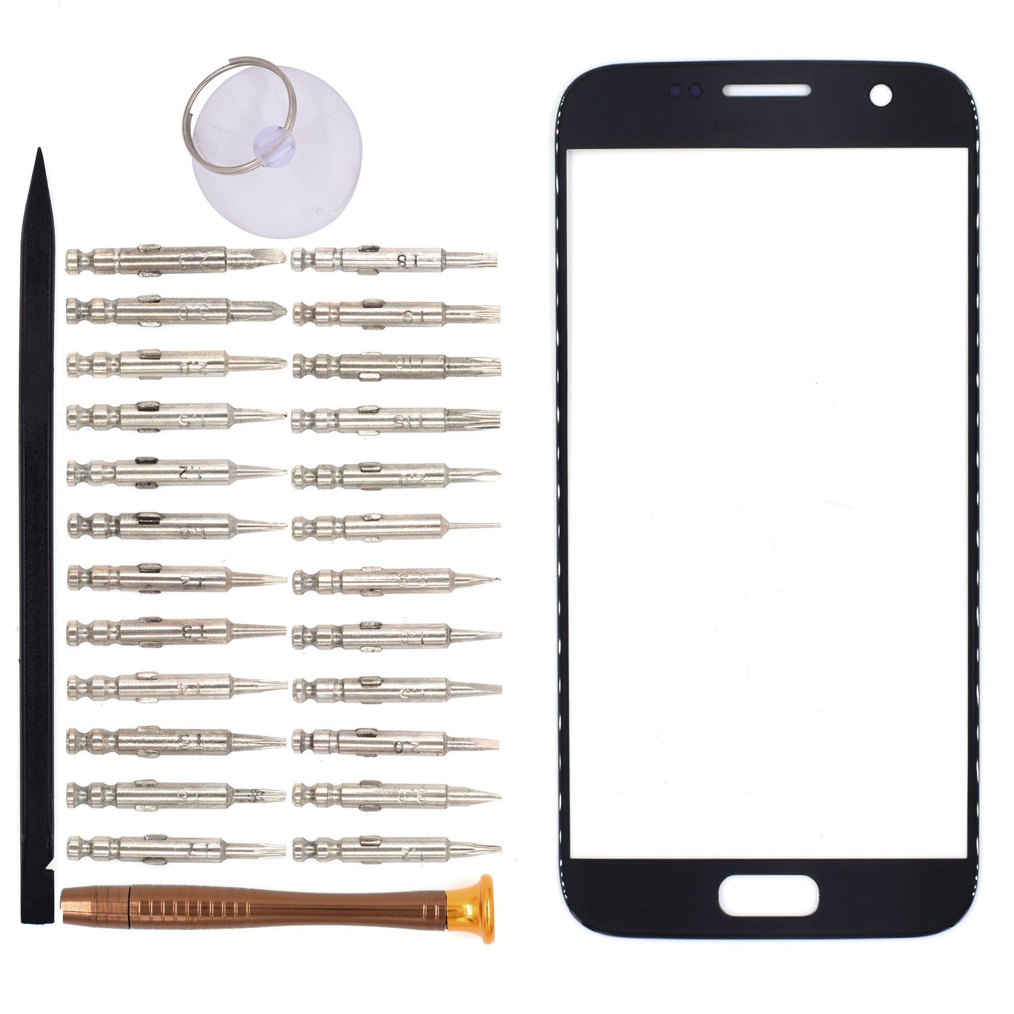Vidrio Frente para Samsung Galaxy S7 gris oscuro [GOODYITOU]