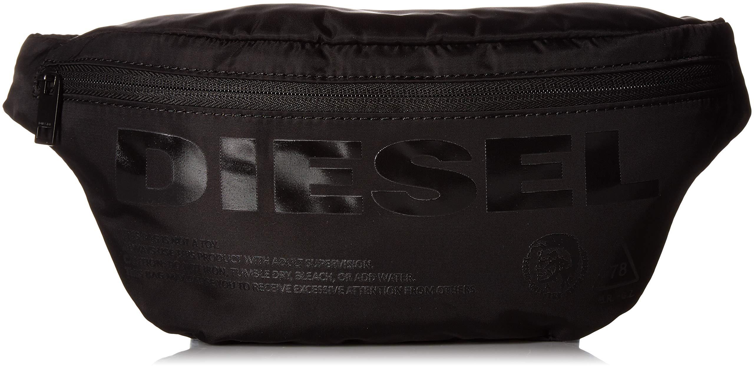 Diesel Men's SUSEGANA F-SUSE Belt Bag, Black Print, UNI