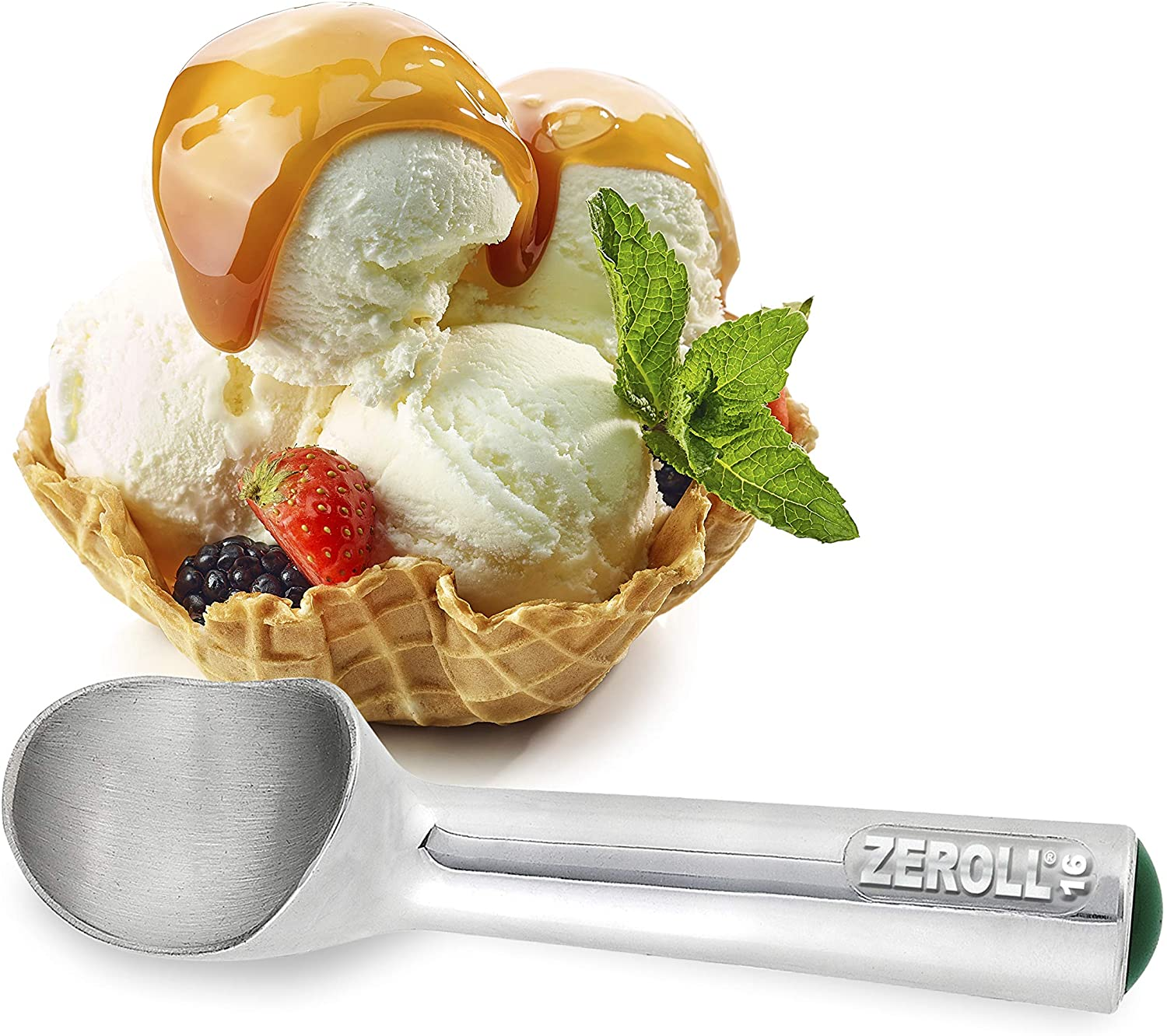 Roll over image to zoom in  Zeroll Original Ice Cream Unique Liquid Filled Heat Conductive Handle Simple One Piece