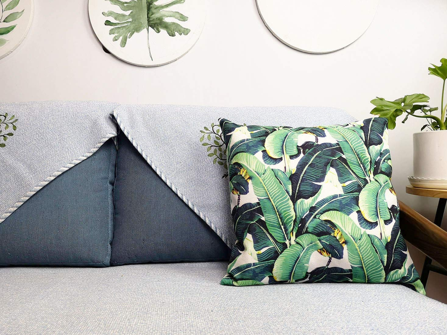 Turnip Design Tropical Plant Leaf Home Decor Wedding Housewarming Gift Cotton Cushion Cover Throw Pillow Case TDPN37