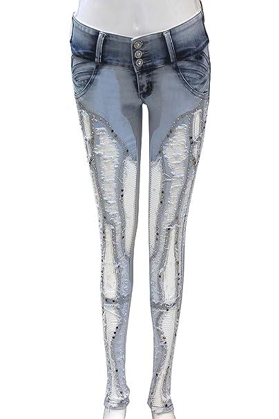 Pantalon vaquero de mujer, marca zarina, pantalon colombiano ...