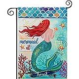 Mermaid at Heart Summer Garden Flag, hogardeck Premium Polyester Yard Flag, Vertical Double Sided Vividly Colourd Holiday Hom
