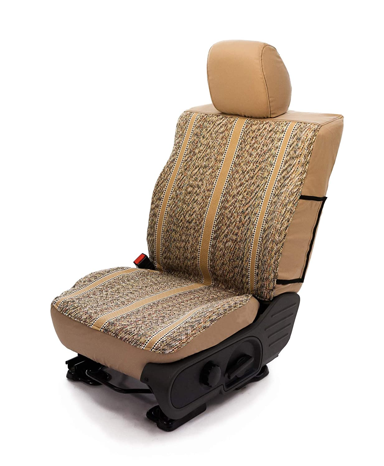 Saddleman S 029924-09 Tan Custom Made Rear 60//40 Backrest with armrest and 3 Adj Headrests Seat Covers