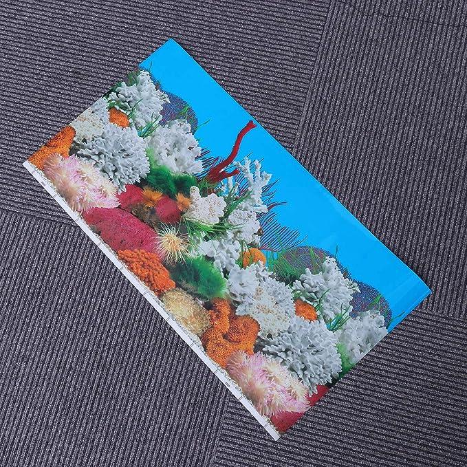 Amazon.com : POPETPOP Fish Tank Background Sticker 3D Double-Sided Adhesive Aquarium Wallpaper Decorative Pictures 52x30cm : Pet Supplies