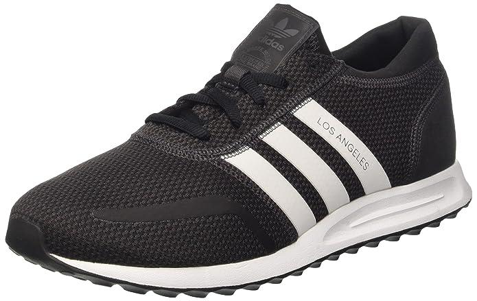adidas Los Angeles Schuhe Herren schwarz m. weißen Streifen