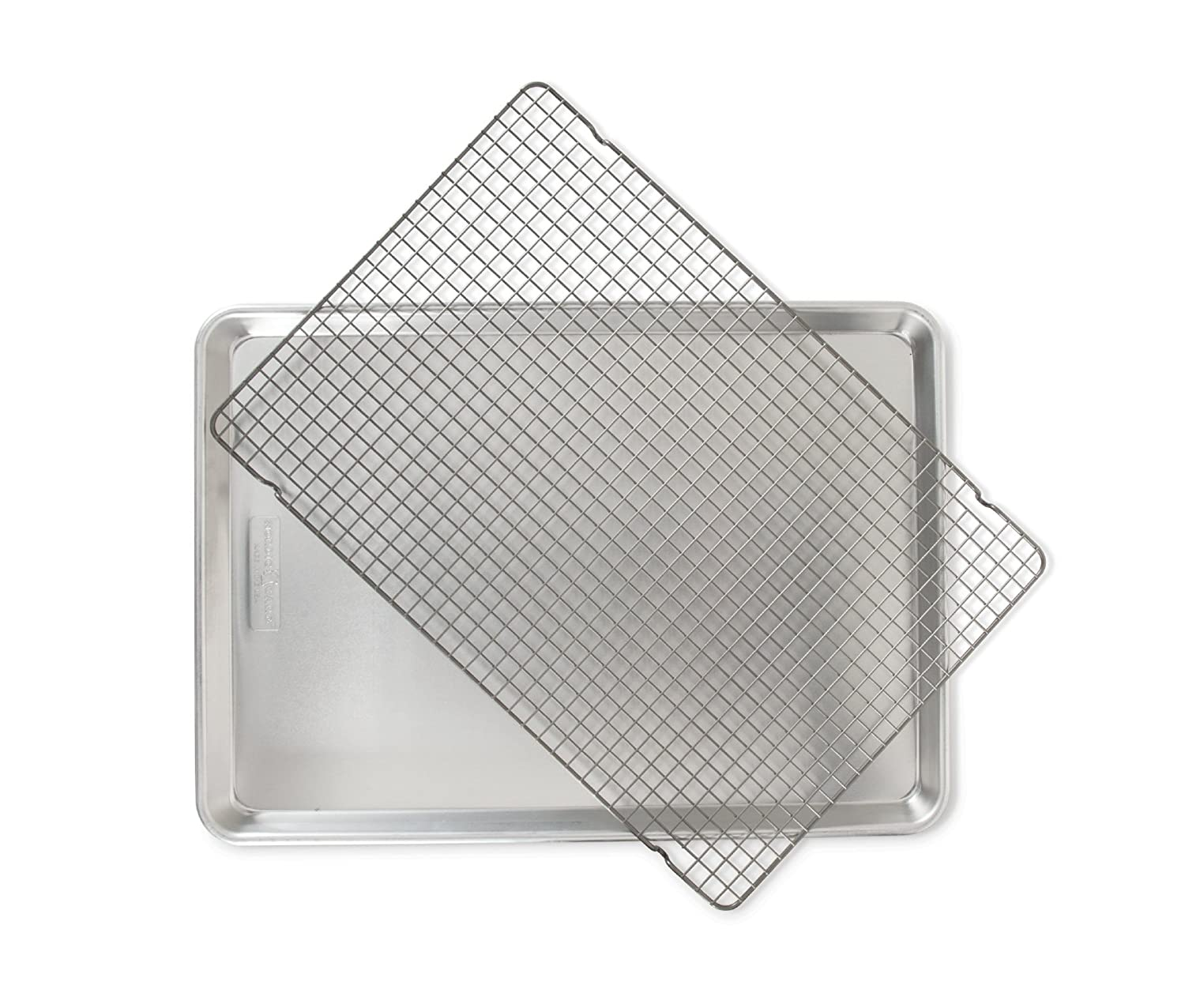 Nordic Ware 2 Piece Big Sheet with Oven-Safe Grid