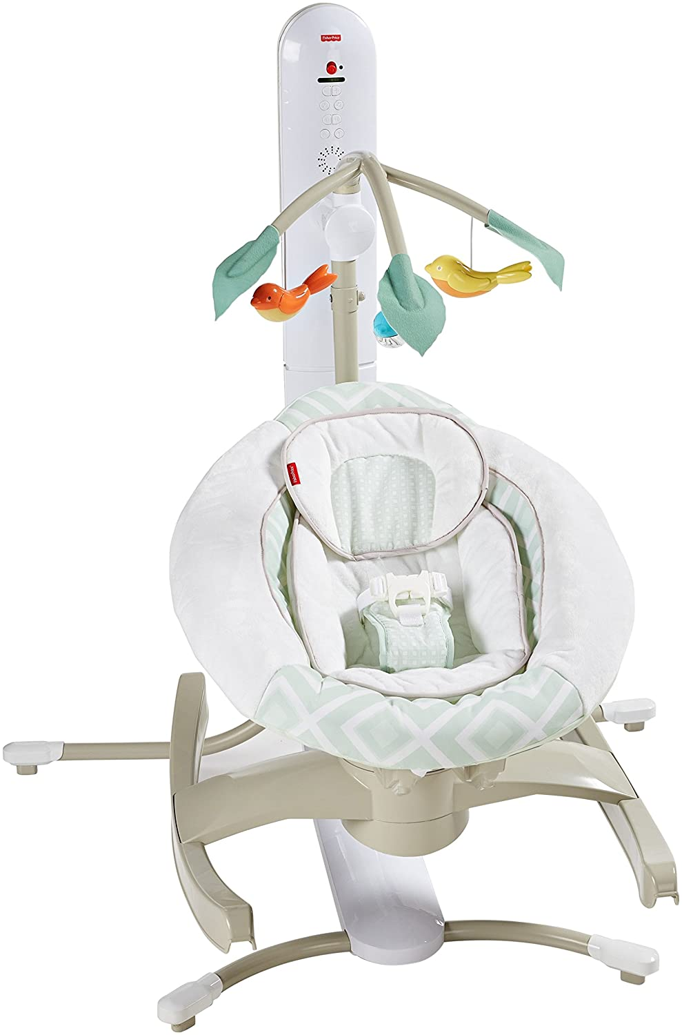 Fisher-Price 4 Motion Cradle 'n Swing with Smart Connect, Serene Green DKD85