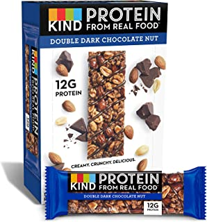product image for KIND Protein Bars, Double Dark Chocolate Nut, Gluten Free, 12g Protein,1.76 Ounce (12 Count)