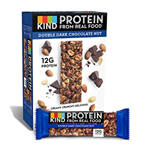 KIND Protein Bars, Double Dark Chocolate Nut, Gluten Free, 12g Protein,1.76 Ounce (12 Count (Pack of 1))
