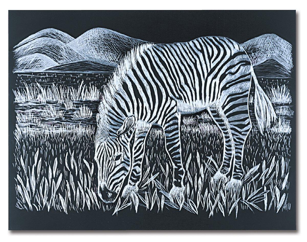 Melissa & Doug Scratch Art Scratchboard - 10-Pack, Shimmering Silver on Black Background 8088