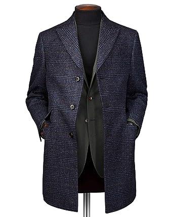 Deckkaro mit Wolle aus Marineblau Epsom Mantel in OPkiuXTZ