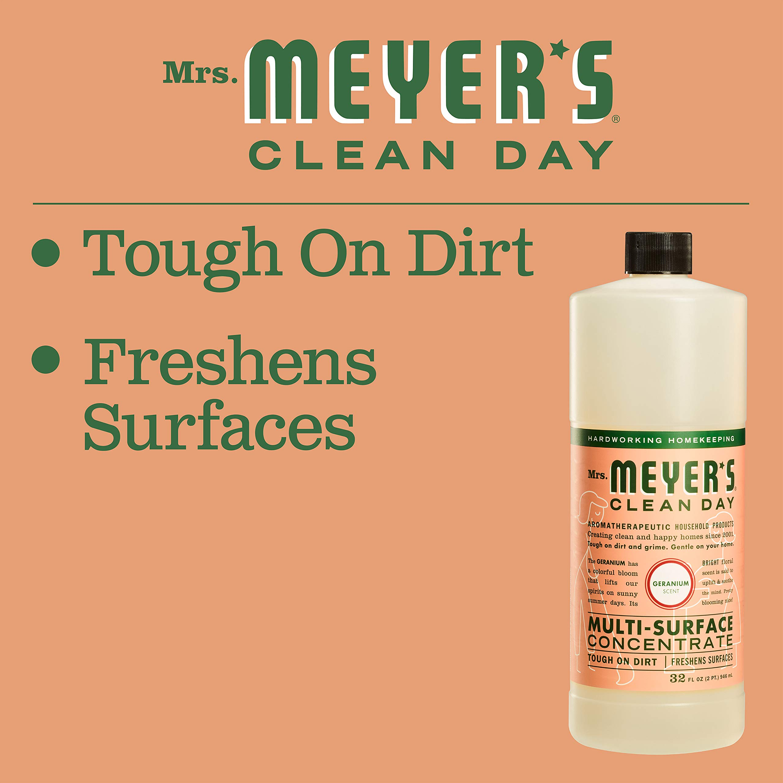 Mrs. Meyer's Clean Day Multi-Surface Concentrate, Geranium, 32 fl oz, 2 ct by Mrs. Meyer's Clean Day (Image #5)