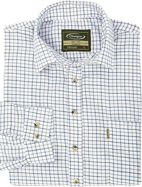 A Quadri Camicia Classiche Manica Lunga Walker and Hawkes Uomo