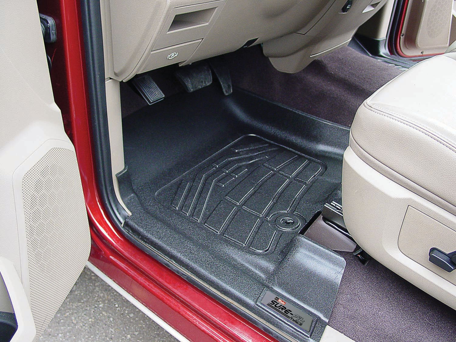 1 Pair Westin Wade 72-110011 Black Sure-Fit Front Right And Left Molded Floor Mat Set