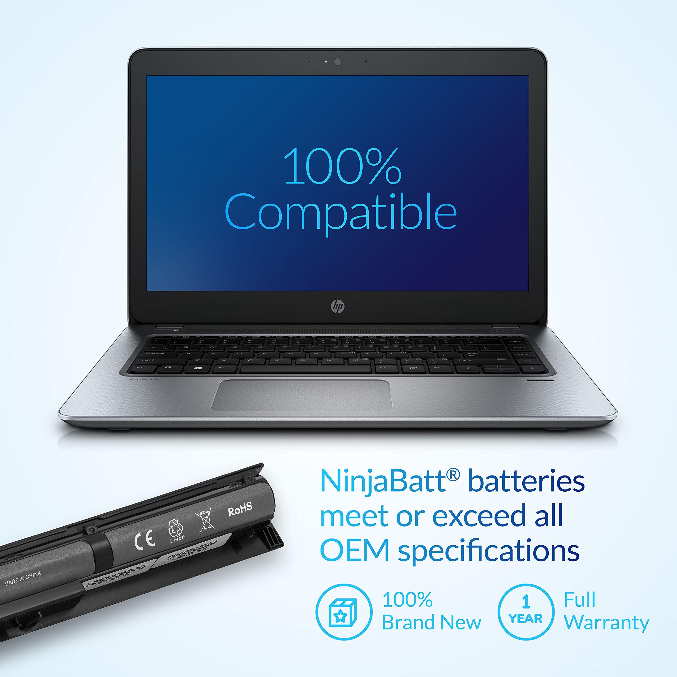 NinjaBatt Laptop Battery for HP VI04 756743-001 756745-001 756744-001 756478-851 ProBook 440 G2 450 G2 756478-421 756478-421 756478-422 756479-421 HSTNN-LB6I Envy 14 15 17 - [4 Cells/2200mAh] by NinjaBatt (Image #6)