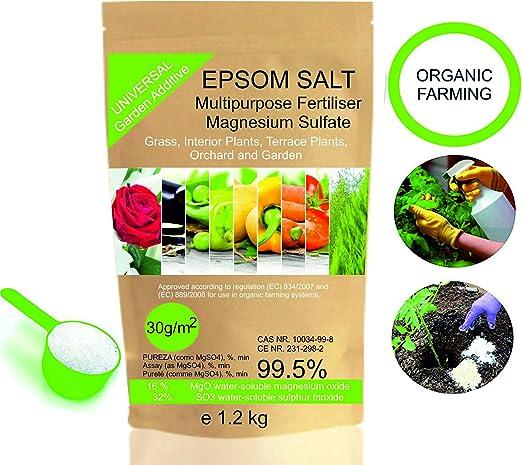 bleu & marine Bretania Abono Ecológico Sales de Epsom (Sulfato de ...