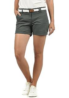 Damen Business Hot Pants Shorts Panty Classic Stoffhose Kurze Hose mit Gürtel