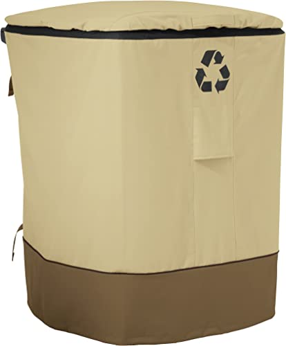 Classic Accessories Veranda Water-Resistant 96 Gallon Outdoor Recycling Cart Cover