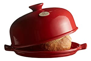 "Emile Henry Made In France Bread Cloche, 13.2 x 11.2"""", Burgundy"